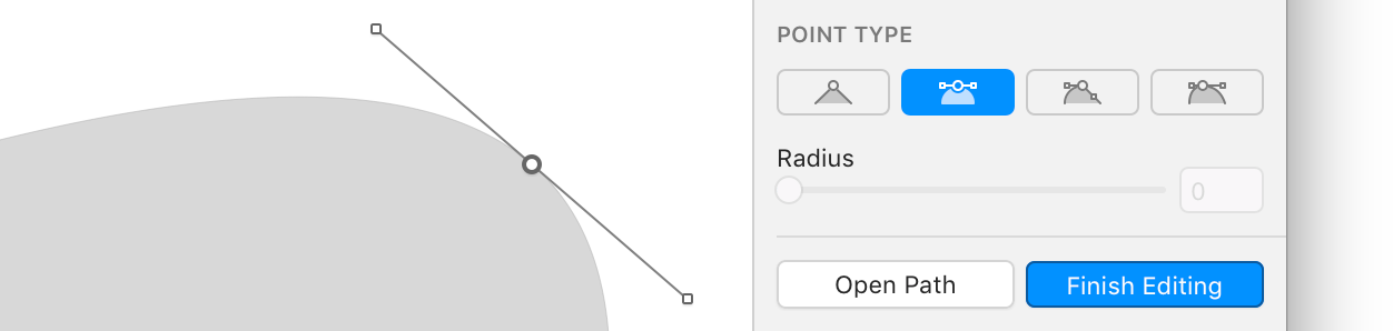 Point Types in Sketch's UI